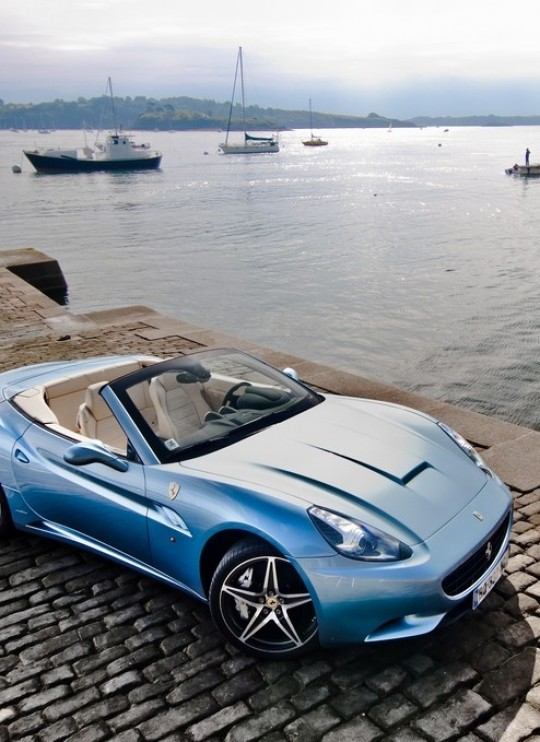 Permalink to Baby Blue Ferrari California